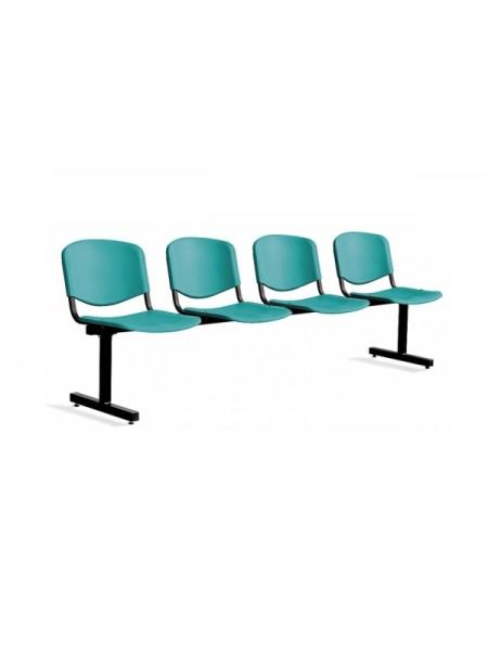 Четрырёхместная секция сидений ISO 4 Z plast