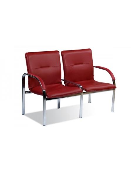 Двухместная секция сидений Staff-2S chrome