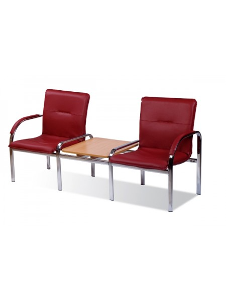 Двухместная секция сидений Staff-2S T chrome