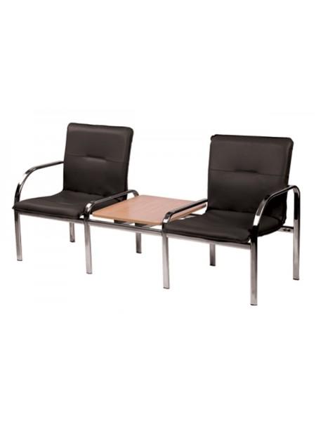 Двухместная секция сидений Staff-2 T chrome