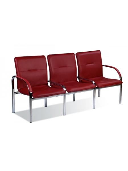 Трёхместная секция сидений Staff-3S chrome