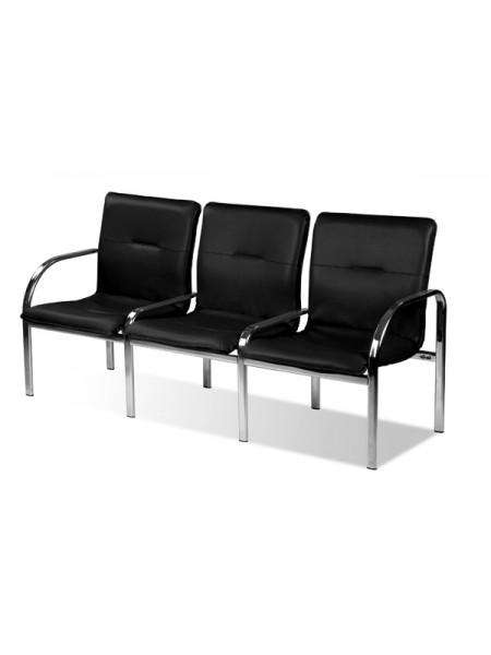 Трёхместная секция сидений Staff-3 chrome