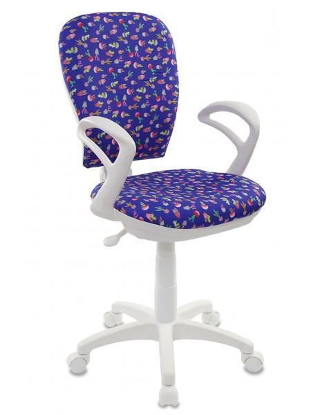 Детское кресло  CH-W513/CACTUS-BL  кактусы синий