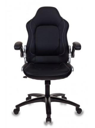 Кресло игровое Бюрократ VIKING-1/BLACK черный искусственная кожа (пластик черный)