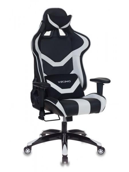 Кресло игровое Бюрократ CH-772N/BL+WHITE две подушки черный/белый искусственная кожа (пластик черный)