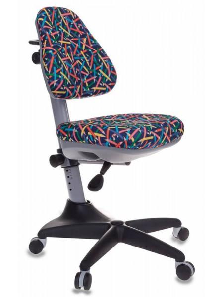 Кресло детское Бюрократ KD-2/G/PENCIL-BL синий карандаши