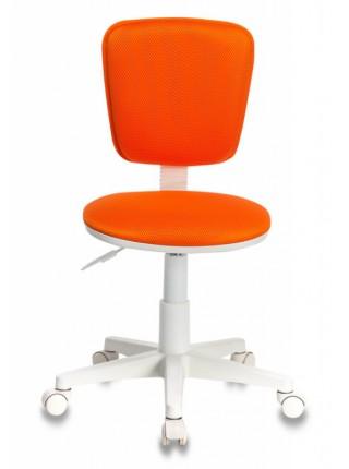 Кресло детское Бюрократ CH-W204NX оранжевый TW-96-1 крестовина пластик пластик белый