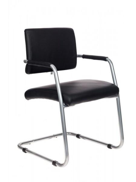 Кресло Бюрократ CH-271-V/SL/OR-16 черный зеркальный хром искусственная кожа