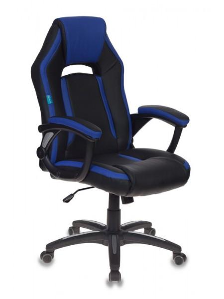 Кресло игровое Бюрократ CH-829/BL+BLUE черный/синий искусственная кожа