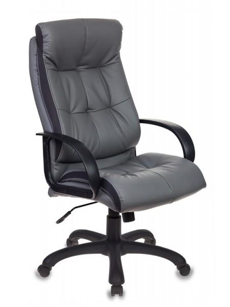 Кресло руководителя Бюрократ CH-824B/LGREY серый искусственная кожа