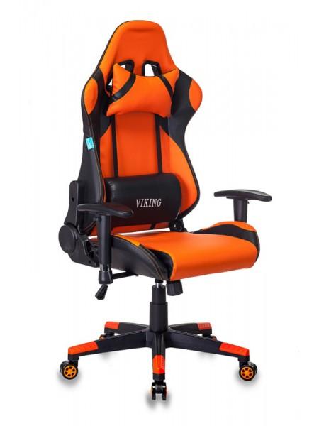 Кресло игровое Бюрократ CH-778N/BL+ORANGE две подушки черный/оранжевый искусственная кожа