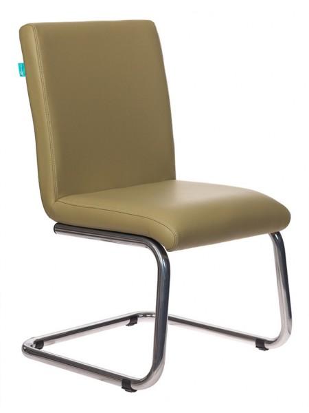 Кресло Бюрократ CH-250-V/KRIT-GREEN на полозьях зеленый искусственная кожа
