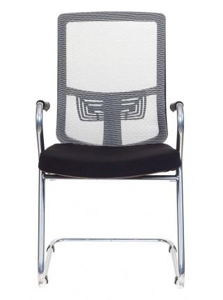 Кресло Бюрократ MC-619/GR/26-B01 на полозьях серый BM-10 сиденье черный 26-B01