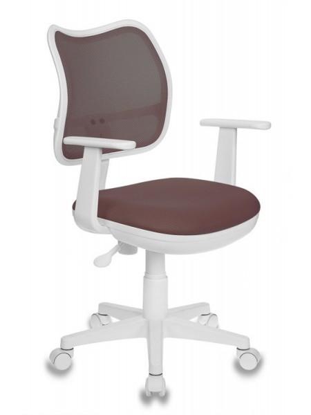 Кресло детское Бюрократ CH-W797/BR/TW-14C спинка сетка коричневый сиденье коричневый TW-14C (пластик белый)