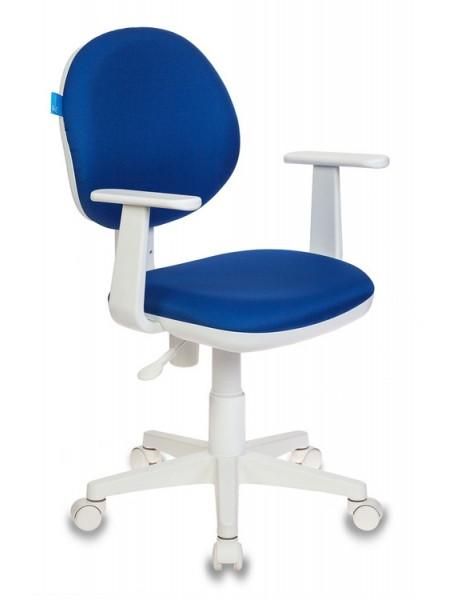 Кресло детское Бюрократ CH-W356AXSN/15-10 темно-синий 15-10 колеса белый (пластик белый)