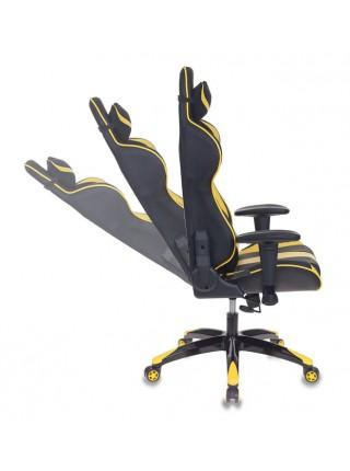 Кресло игровое Бюрократ CH-772N/BL+YELLOW две подушки черный/желтый искусственная кожа