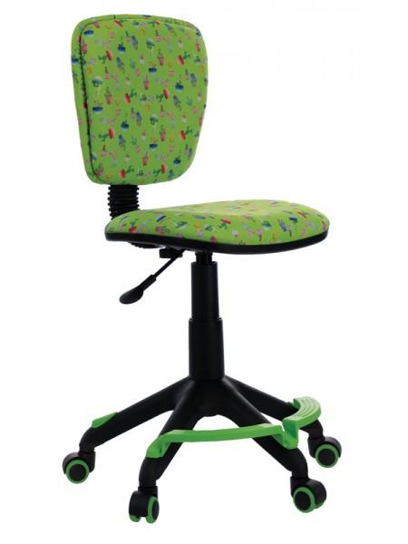 Кресло детское Бюрократ CH-204-F/CACTUS-GN подставка для ног зеленый кактусы