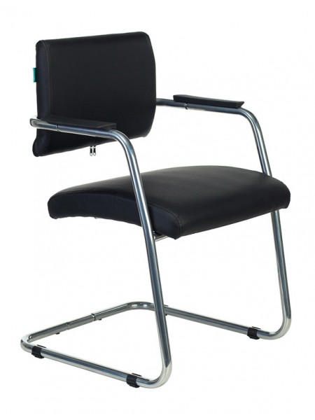 Кресло Бюрократ CH-271N-V/SL/BLACK черный зеркальный хром искусственная кожа