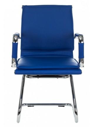 Кресло Бюрократ CH-993-Low-V/blue низкая спинка синий искусственная кожа