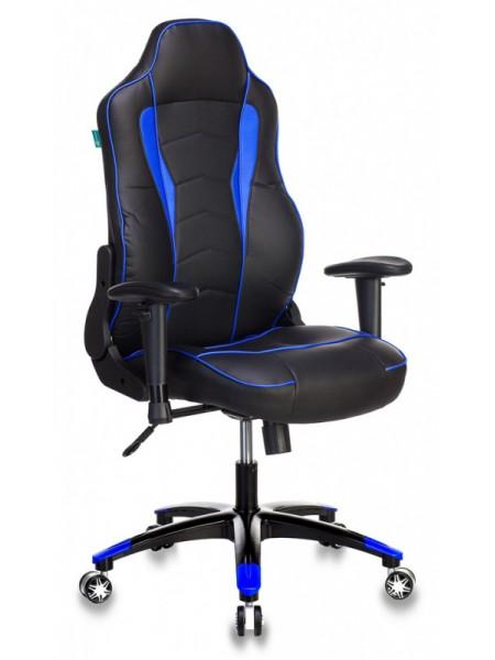 Кресло игровое Бюрократ VIKING-3/BL+BLUE черный/синий искусственная кожа