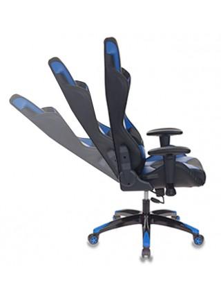 Кресло игровое Бюрократ CH-773N/BL+BLUE одна подушка черный/синий искусственная кожа