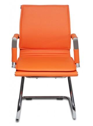 Кресло Бюрократ CH-993-Low-V/orange низкая спинка оранжевый искусственная кожа