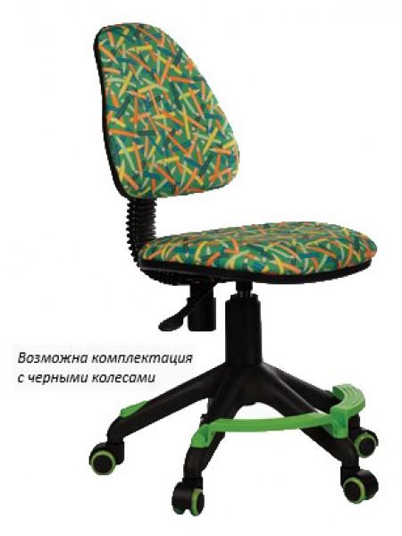Кресло детское Бюрократ KD-4-F/PENCIL-GN зеленый карандаши