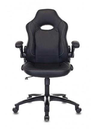 Кресло игровое Бюрократ VIKING-1N/BLACK черный искусственная кожа