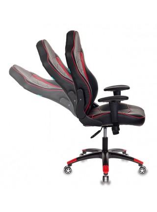 Кресло игровое Бюрократ VIKING-3/BL+RED черный/красный искусственная кожа