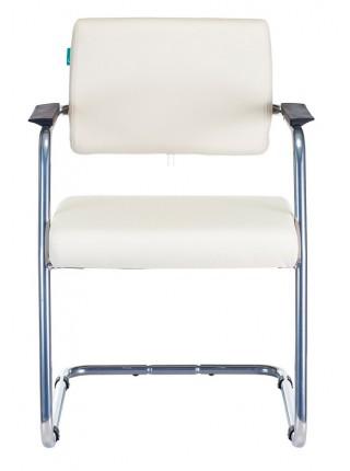 Кресло Бюрократ CH-271N-V/SL/OR-10 на полозьях молочный зеркальный хром искусственная кожа