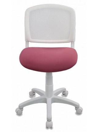 Кресло детское Бюрократ CH-W296NX/26-31 спинка сетка белый TW-15 сиденье розовый 26-31