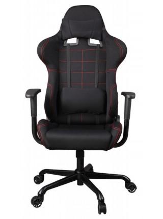 Кресло игровое Бюрократ 771/BLACK+BL две подушки черный крестовина металл