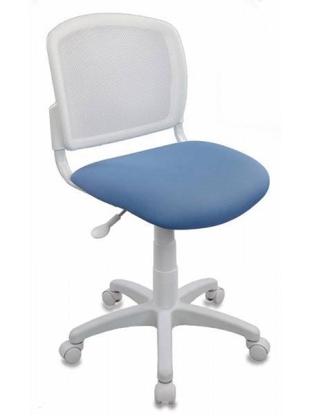 Кресло детское Бюрократ CH-W296NX/26-24 спинка сетка белый TW-15 сиденье голубой 26-24