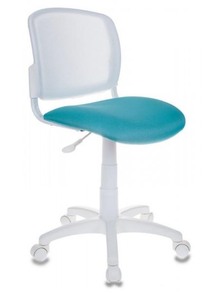 Кресло детское Бюрократ CH-W296NX/15-175 спинка сетка белый TW-15 сиденье бирюзовый 15-175