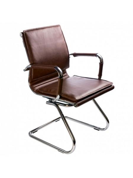 Кресло Бюрократ CH-993-Low-V/Brown низкая спинка коричневый искусственная кожа