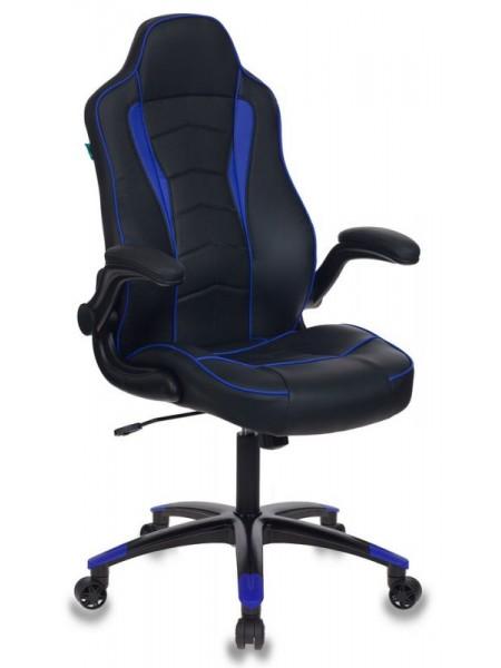 Кресло игровое Бюрократ VIKING-2/BL+BLUE черный/синий искусственная кожа