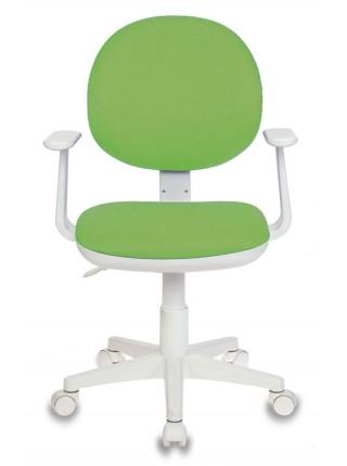 Кресло детское Бюрократ CH-W356AXSN/15-118 салатовый 15-118 колеса белый (пластик белый)