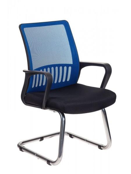Кресло Бюрократ MC-209/BL/TW-11 спинка сетка синий TW-05 сиденье черный TW-11