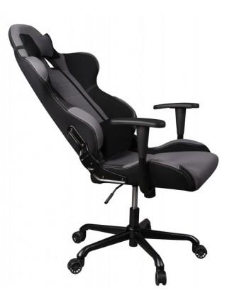 Кресло игровое Бюрократ 771/GREY+BL две подушки серый крестовина металл