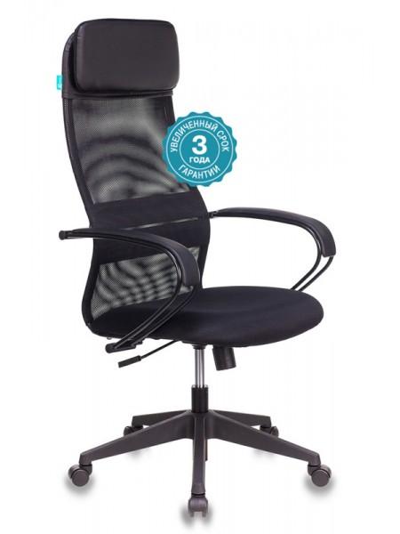 Кресло руководителя Бюрократ CH-608/BLACK спинка сетка черный TW-01 сиденье черный TW-11