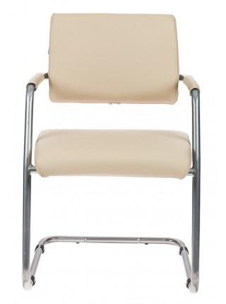 Кресло Бюрократ CH-271-V/SL/OR-12 светло-бежевый зеркальный хром искусственная кожа