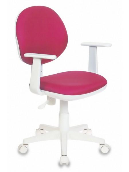 Кресло детское Бюрократ CH-W356AXSN/15-55 розовый 15-55 колеса белый (пластик белый)