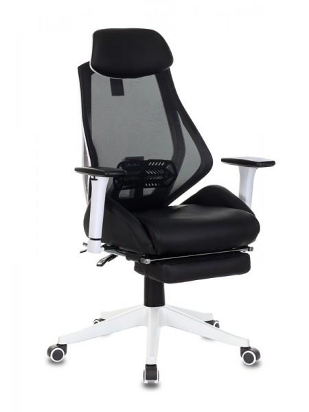 Кресло игровое Бюрократ CH-W770/BLACK черный искусст.кожа/сетка (пластик белый)