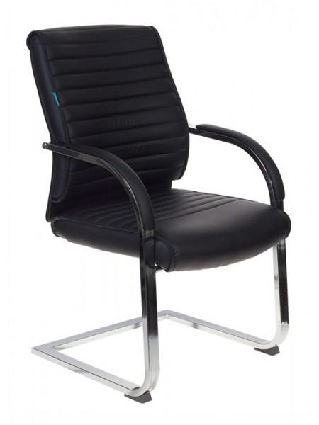 Кресло Бюрократ T-8010-LOW-V/BLACK на полозьях черный искусственная кожа