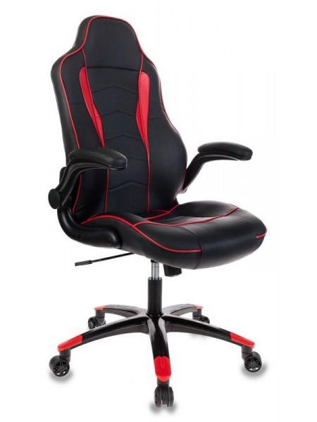 Кресло игровое Бюрократ VIKING-2/BL+RED черный/красный искусственная кожа
