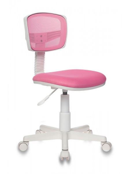 Кресло детское Бюрократ CH-W299/PK/TW-13A спинка сетка розовый TW-06A TW-13A (пластик белый)