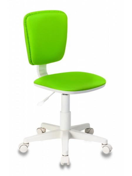 Кресло детское Бюрократ CH-W204NX салатовый 15-118 крестовина пластик пластик белый