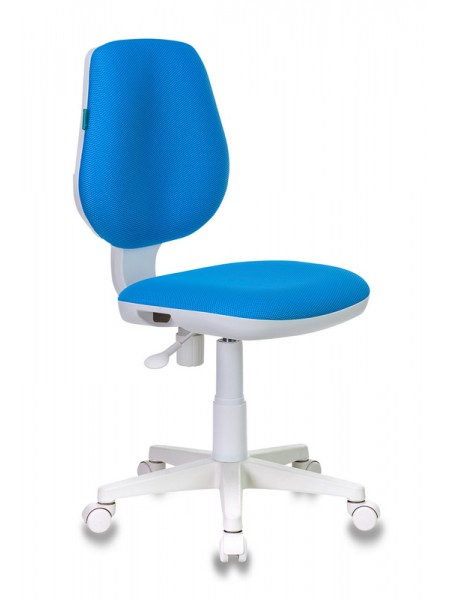 Кресло детское Бюрократ CH-W213/TW-55 голубой TW-55 (пластик белый)