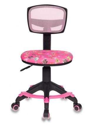 Кресло детское Бюрократ CH-299-F/PK/FLIPFLOP_P спинка сетка розовый сланцы