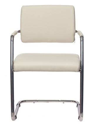 Кресло Бюрократ CH-271-V/SL/OR-10 молочный зеркальный хром искусственная кожа